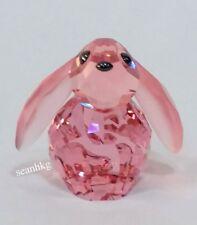 Swarovski Bella Rabbit Sweet Bunny Light Rose Crystal Figurine MIB - 1039867
