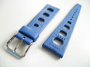 Original-TROPIC-SPORT-Brac-22mm-blau-mit-Stahl-Schnalle
