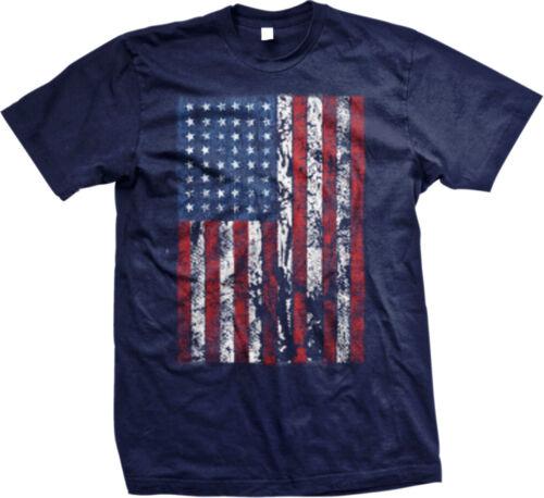 Vertical American Flag USA United States Stars Stripes Patriotic Mens T-shirt