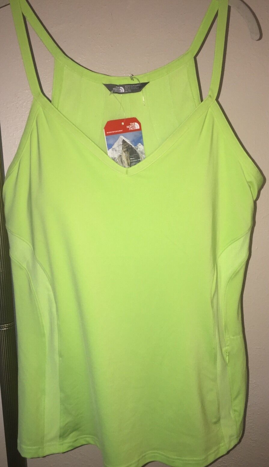 NWT WOMEN'S THE NORTH FACE RIO TANK HIKING FITNESS OUTDOORS PADDED BRA SZ XL