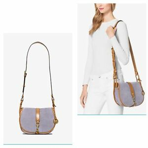78221ed052e4b2 Image is loading NWT-MICHAEL-MICHAEL-KORS-Jamie-Large-Suede-Crossbody-