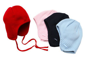 Maximo Baby Boy Knitted Winter Hat Covers Ears Strings Attached ... d140e145dd1