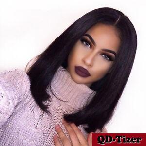 Short Bob Full Lace Wig Baby Hair Brazilian Straight Lace Front Human Hair Wigs Ebay