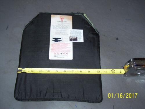 "BULLETPROOF Shototers Cut /& Spall 1Trauma Plate Level IIIA 10/""X12/"" Body Armor"