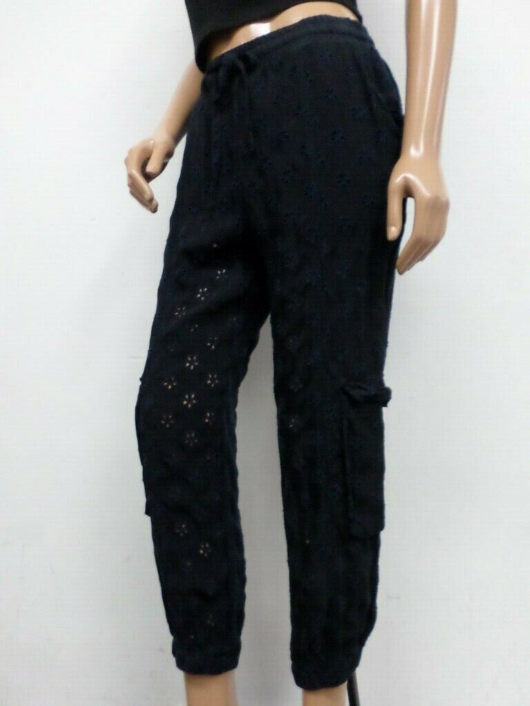 NWT Johnny Was Floral Embroiderot Pants P60318 - Größe M - OL26340519