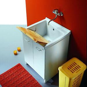 Mobile lavatoio lavello ceramica linea Acqua Edilla cm 60x84 cm ...