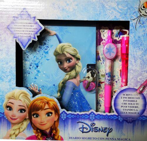 DIARIO SEGRETO piu/' PENNA MAGICA piu/' STIKERS DISNEY FROZEN Elsa