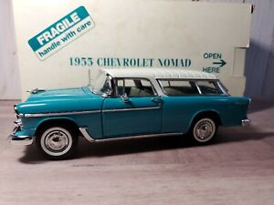 Danbury-Mint-1955-Chevy-Nomad-Bel-Air-Station-Wagon-1-24-Scale-Diecast-Model-Car
