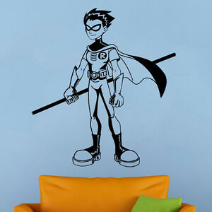 Image Is Loading Wall Decal Teen Titans Robin Vinyl Stickers Superhero