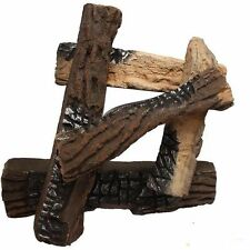 5 Pieces Ceramic Wood Logs for All Types of Large Gas Fireplace or Gas firepit