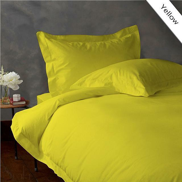 900 TC EGYPTIAN COTTON COMPLETE BEDDING COLLECTION IN ALL SETS & YELLOW COLOR