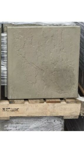 50 Old York Green 450x450 Concrete Riven Paving Slabs Delivery Included
