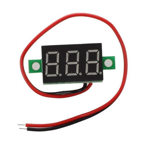 LED Mini Digital Voltmeter Spannungsanzeige Panelmeter DC 3-30V DE O1C8 E1P1 10X