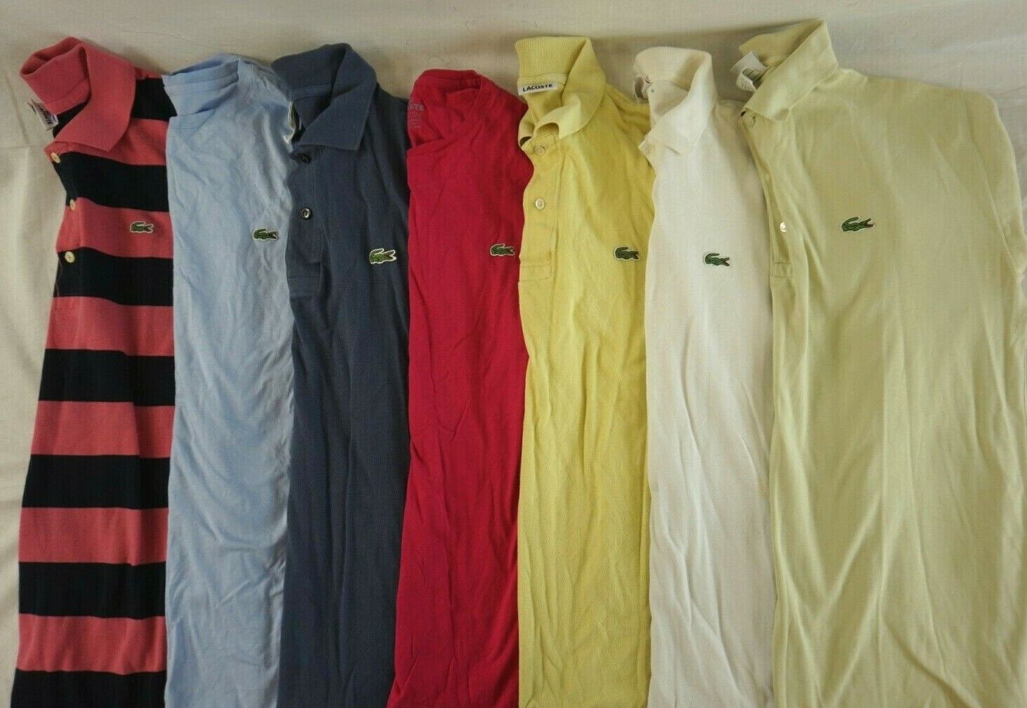 LACOSTE Lot of 7 Men's Short Sleeve Polo Shirts 5   (US LG)