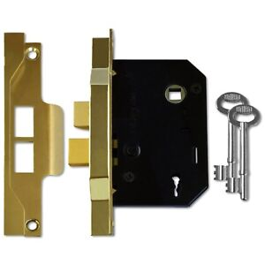 """Polished Chrome Mortice Door Sash Lock 3 Lever 76mm 3 /"""" **FREE SHIPPING** 8207"""