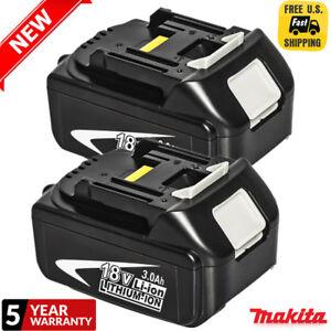 2XMakita-3-0AH-18V-Li-ion-Battery-For-Makita-BL1830B-BL1845-BL1840B-Drill-LXT40