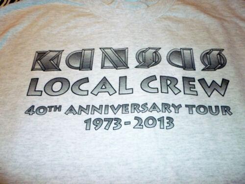 Kansas 40th Anniversary Crew Tour Rare Shirt ( Used Size L ) Nice Condition!!!