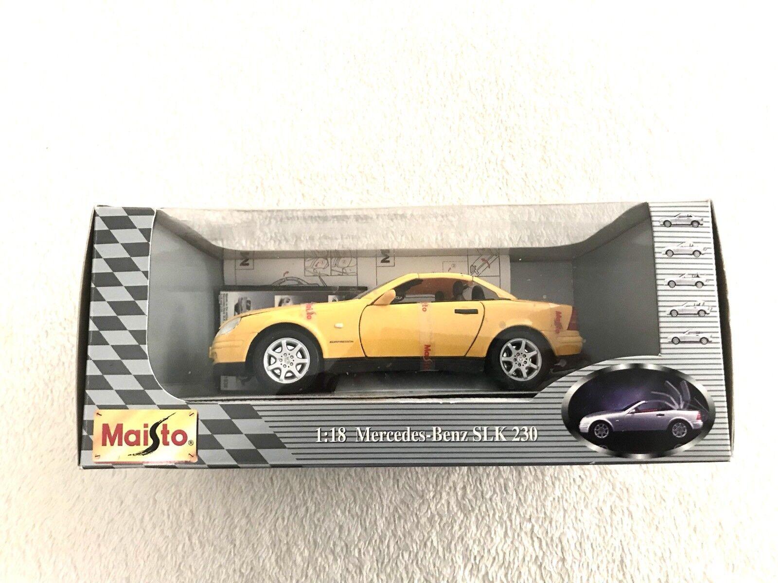 Maisto 1   18 1996 mercedes - benz slk - klasse cabrio cabrio 1996 - gelb