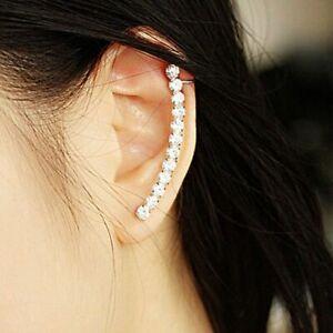 Jewelry-Cuff-Cartilage-Stud-Wrap-Clip-Crystal-Fashion-Earring-Ear-Women-039-s-Punk