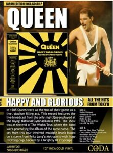 Queen-Happy-And-Glorious-All-The-Hits-From-Tokyo-Inca-Gold-Vinyl-lp-NEW
