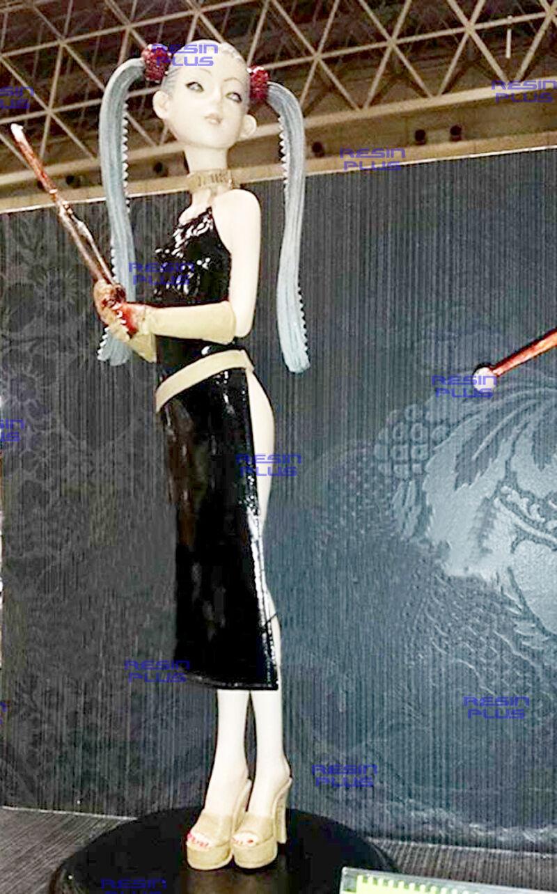 SEXY SERIAL KILLER HEAD CHOPPER GIRL 1 6 UNPAINTED MODEL RESIN KIT
