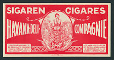 Havana Deli Cigars on Original Antique Cigar Box Label Vintage Art