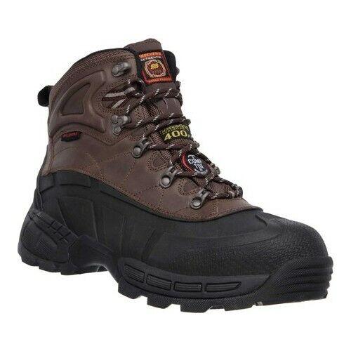 7484b9e713a Skechers for Work Men's Radford Boot Black/brown 7 M US