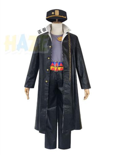 JoJo/'s Bizarre Adventure Kujo Jotaro Cosplay Costume Set with Hat Men/'s Adult