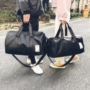 f87aa1b6d3 Image is loading Fashion-Duffle-Bag-Travel-Leather-Waterproof-Shoulder -Handbags-