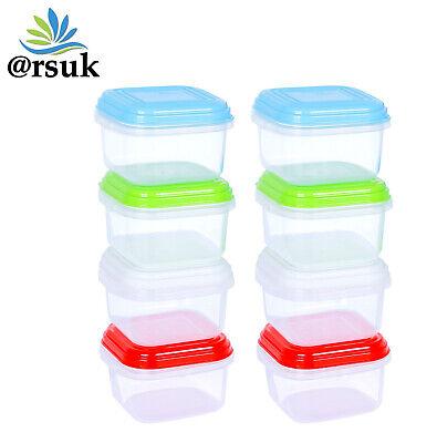 Pack of 3 Baby Toddler Food Storage Pots Lids /& Weaning Spoon Dishwasher Safe