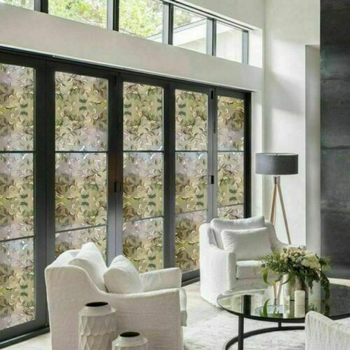 Privacy Window Glass Film Sticker Static Cling 3D Frosted Stained Bathroom Home~