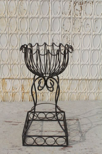 "27/"" Wrought Iron Plant Stand Flower Container"