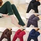 New Women Thermal Thick Warm Fleece lined Fur Winter Tight Pencil Leggings Pants