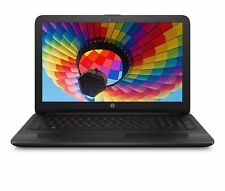 "HP 15.6"" 4GB 500GB Quad Core Win 10 DVD Drive HD Vibrant Display WiFi Black"