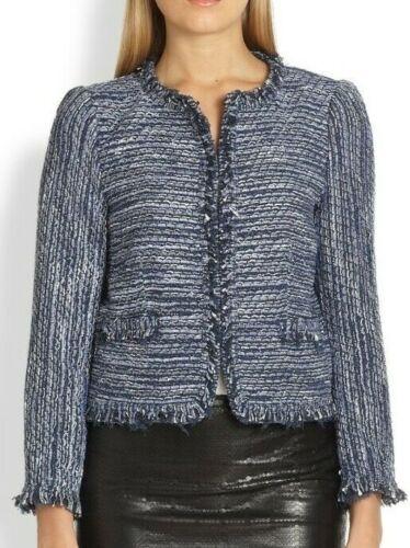 Alice + Olivia Kidman Boxy Tweed Crop Jacket Blaze