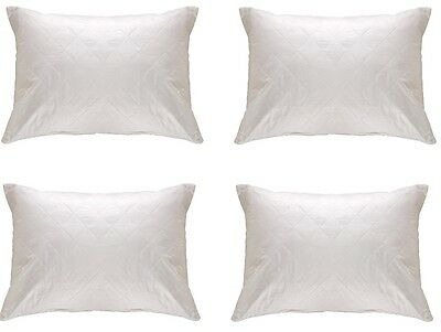 Luxury 130 TC 4 Quilted Pillow Protector Four Protectors Poly Cotton