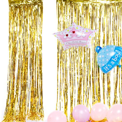 Zimmer Folienvorhänge Metallic Vorhänge Geburtstag Hochzeit Weihnachtsschmuck