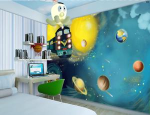 3D Cartoon Galaxy Zug 57 Tapete Tapeten Mauer Foto Familie Tapete Wandgemälde DE