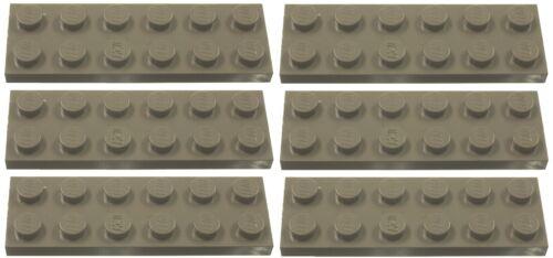 Missing Lego Brick 3795 OldDkGray x 6 Plate 2 x 6