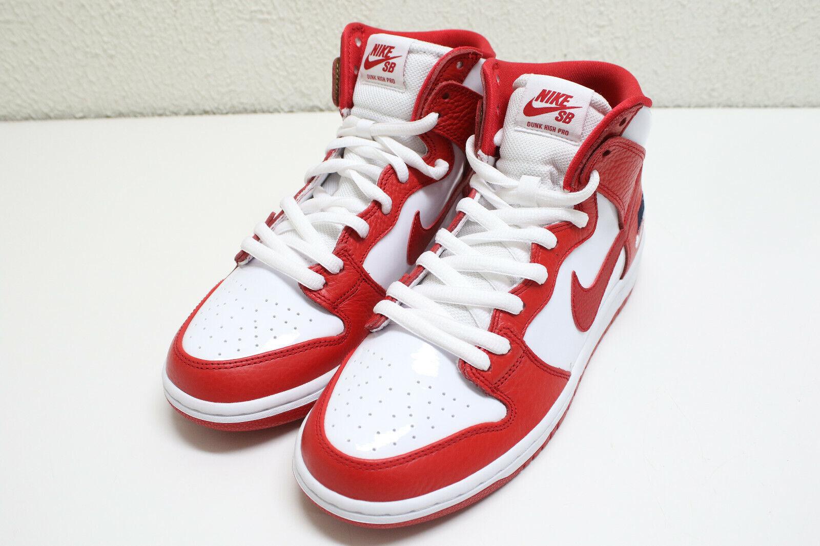 Nike SB ZOOM DUNK HIGH PRO University Red 854851-661 Size US 10
