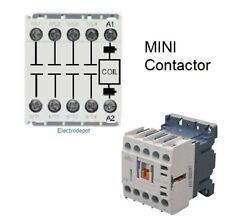 4 Pole Mini Contactor 20amp Coil 12v Dc Motor 12a 600v Din 20a Lighting Heater