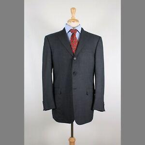 Hickey-Freeman-40R-Gray-Solid-Wool-3B-Sport-Coat-Blazer-Suit-Jacket-93-A