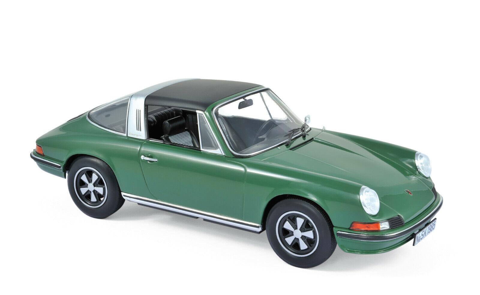 Porsche 911 S Targa Anno 1973 verde Scala 1 18 di Norev