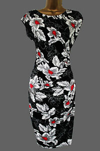 84d4db8505f6 Image is loading NEW-WALLIS-BLACK-RED-WHITE-Vintage-Style-BODYCON-