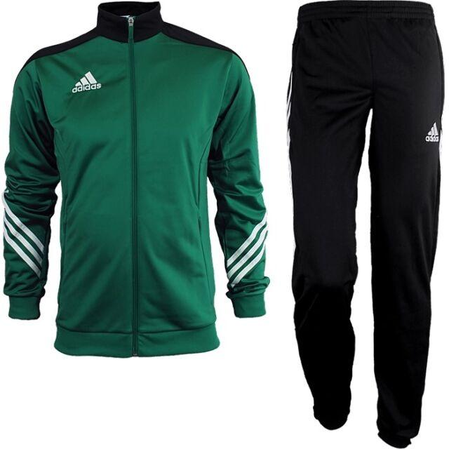 2c2c78db2f18 Adidas Sereno 14 men s track suit green white black jogging sports training  NEW