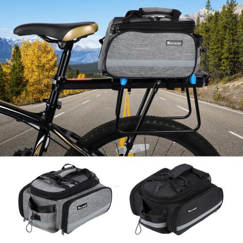 WEST BIKING MTB Bike Rear Seat Bag Waterproof Cycle Storage Pannier Trunk Pouch