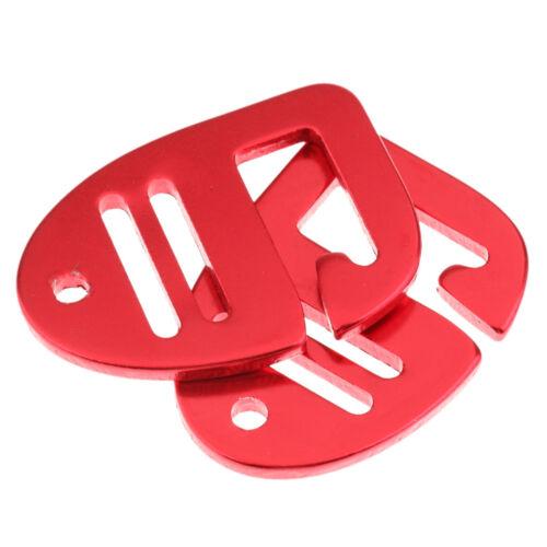 """2pcs Backpack Straps Bag Suitcase Metal Hook Buckle for 1/"""" Webbing 25mm Red"""