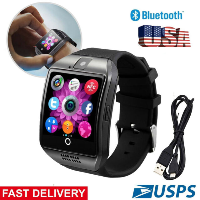 Black Smart Watch Touch Screen Wrist Watch Call Answering Anti Lost for  Android