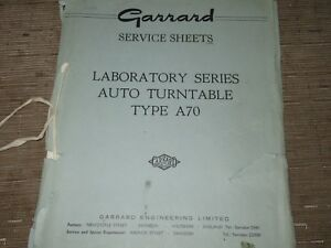 Garrard-type-A-70-turntable-Original-Service-Manual