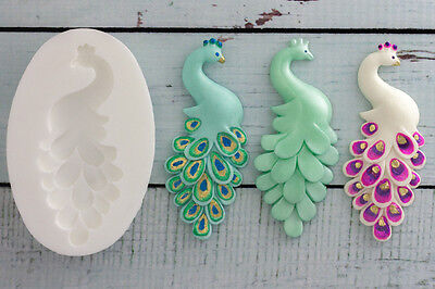 Peacock,Bird, Wedding Food Grade Silicone Sugar craft/chocolate/fimo Mould M0024